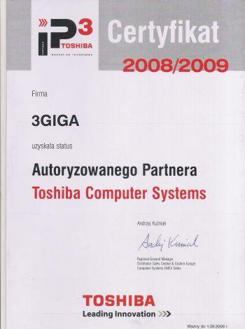 toshiba certyfikat
