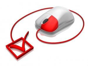 mysz komputerowa i zaznaczony znaczek
