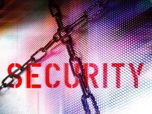 łańcuch na tle napisu security