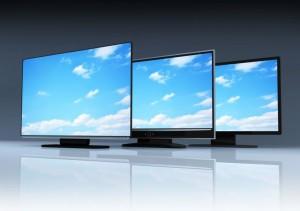 Trzy monitory poleasingowe